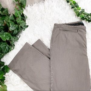 B. Republic Washable Crop Avery Brown Striped Pant